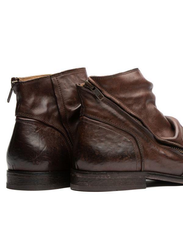 Hudson London Mens Noel Brown Zip Boot Detail