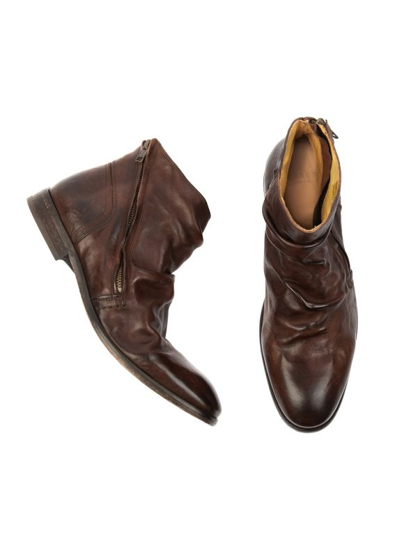 Hudson London Mens Noel Brown Zip Boot Top