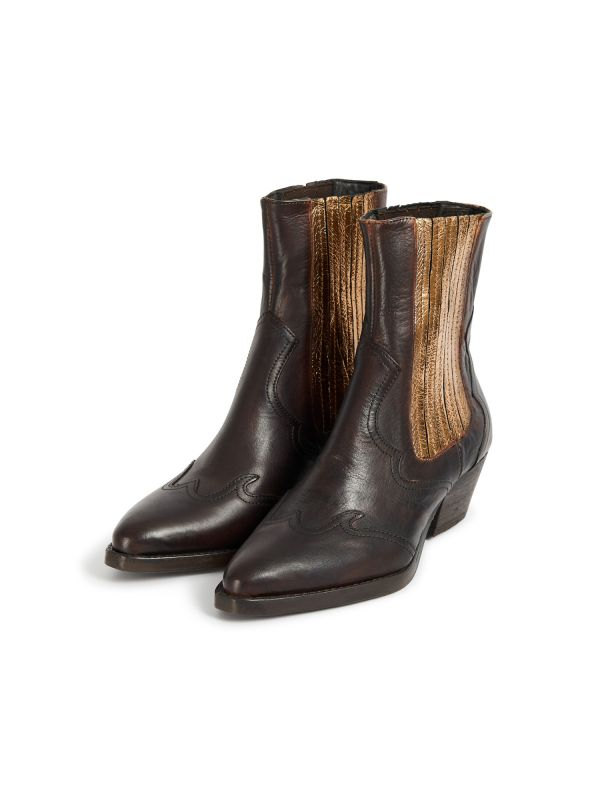 Sienna Bronze Chelsea Boot Three Quarter