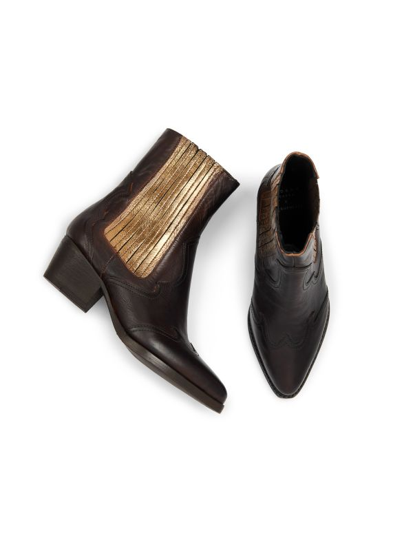 Sienna Bronze Chelsea Boot Top