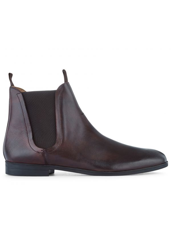 Leather Chelsea Boot Atherstone Brown Side View