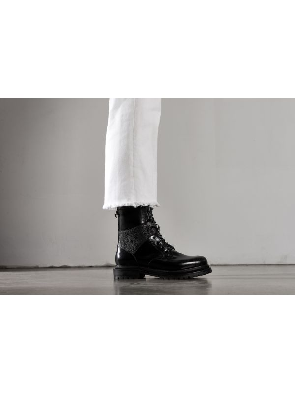 Womens Blair Black Lace Up Boot
