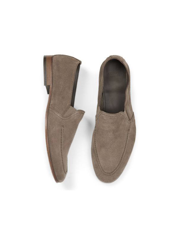 Hudson London Mens Milton Suede Taupe Loafer Top