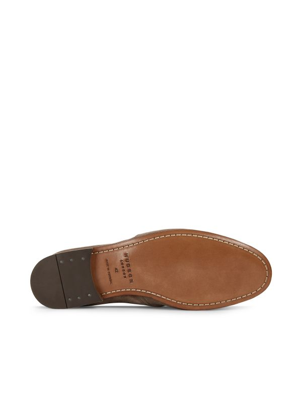 Hudson London Mens Milton Suede Taupe Loafer Sole