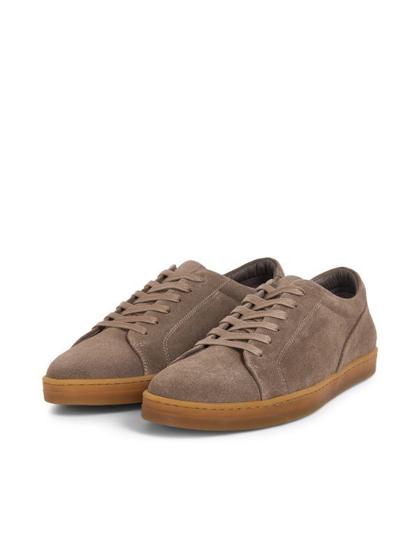 Hudson London Mens Brackla Suede Taupe Sneaker Three Quarter