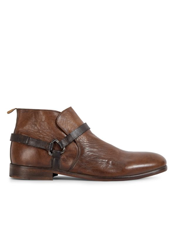Hudson London Mens Hague Leather Tan Boot Side