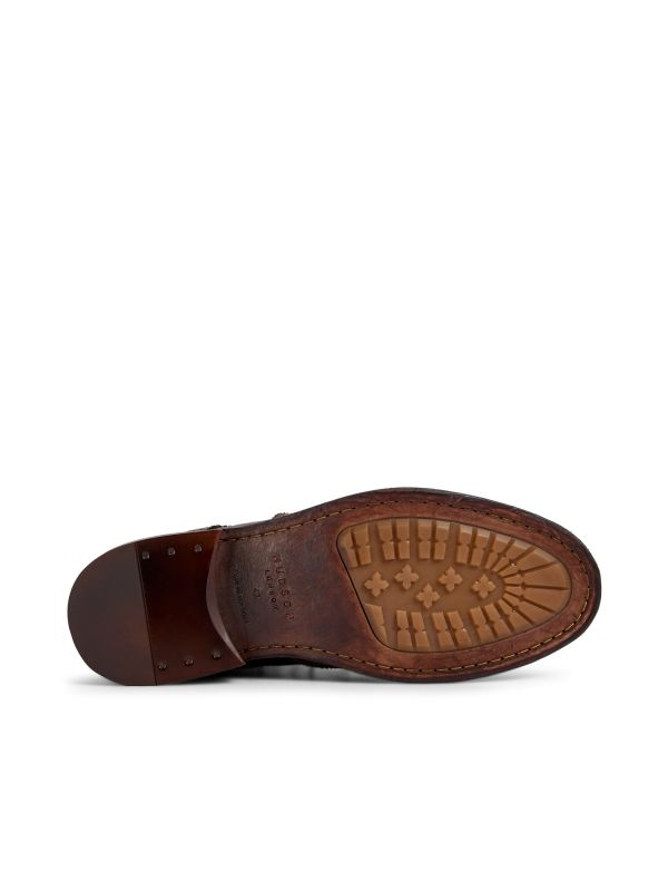 Hudson London Mens Anderson Drum Dye Brown Lace Up Boot Sole