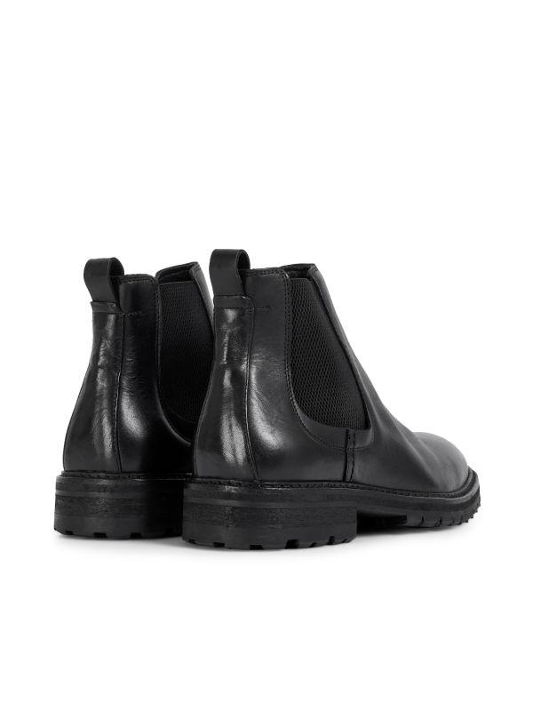 Hudson London Mens Canford Leather Black Chelsea Boot Detail