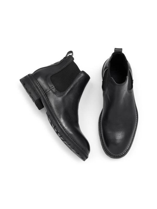 Hudson London Mens Canford Leather Black Chelsea Boot Top
