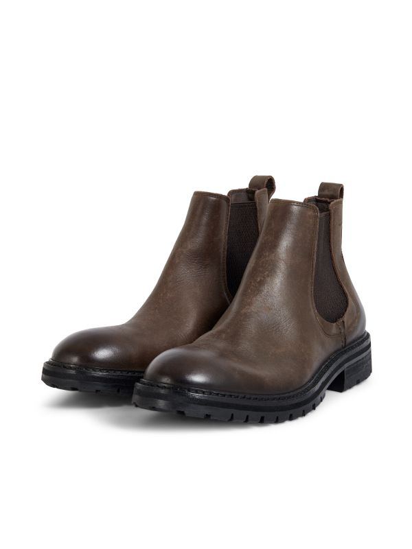 Hudson London Mens Canford Leather Brown Chelsea Boot Three Quarter