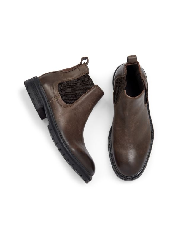 Hudson London Mens Canford Leather Brown Chelsea Boot Top
