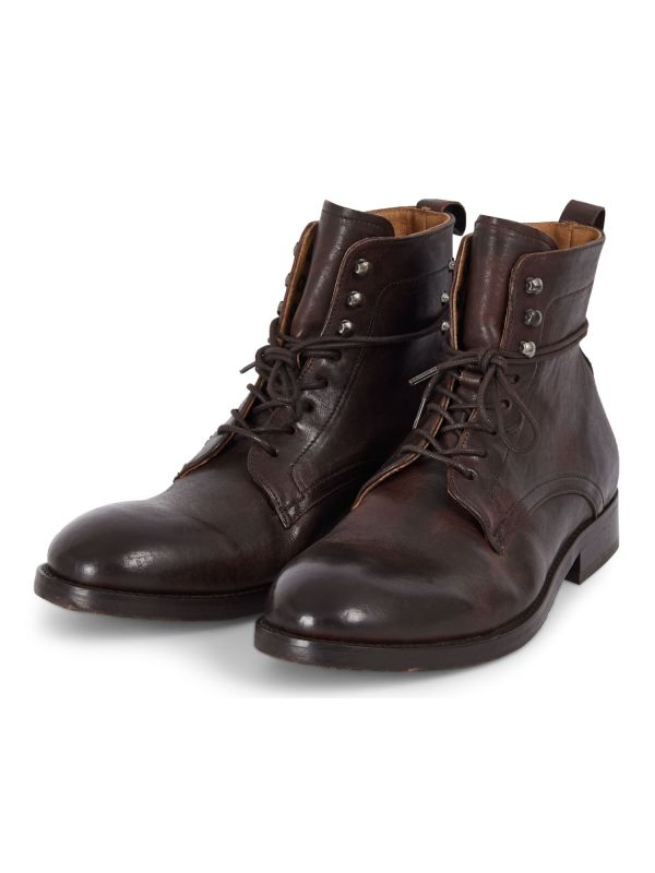 Mens Yew Brown Lace Up Boot three quarter