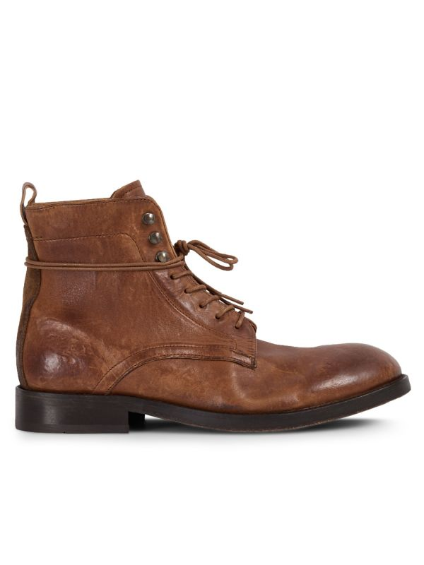 Mens Yew Tan Boot Side