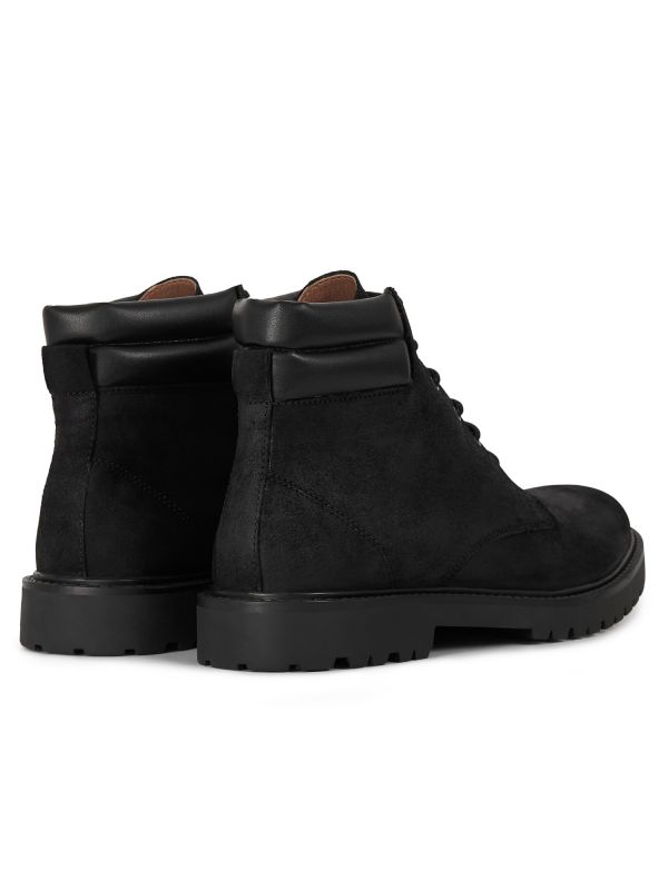 Mens Handel Suede Black Cuff Boot Detail