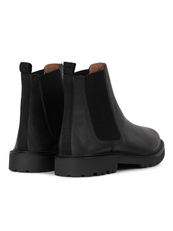 Mens Webber Black Chelsea Boot Detail