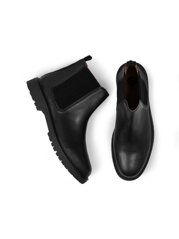 Mens Webber Black Chelsea Boot Top