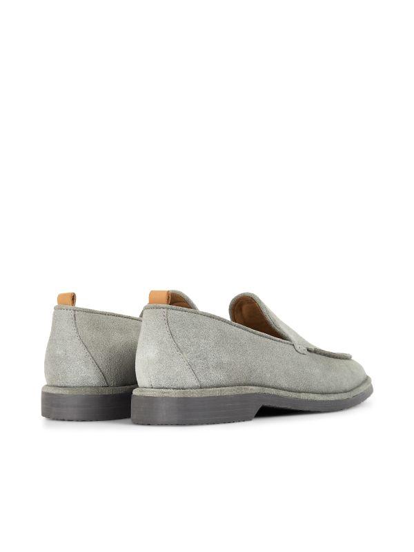Hudson London Mens Calvi Suede Stone Loafer Detail