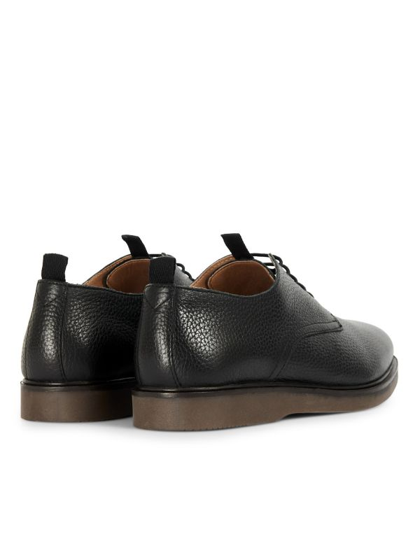 H by Hudson Mens Barnstable Black Shoe Detail