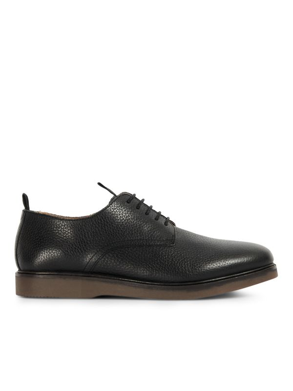 H by Hudson Mens Barnstable Black Shoe Side