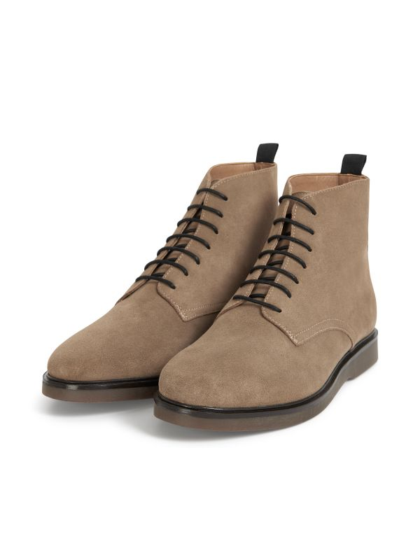 H by Hudson Troy Suede Taupe Boot Three Quarter