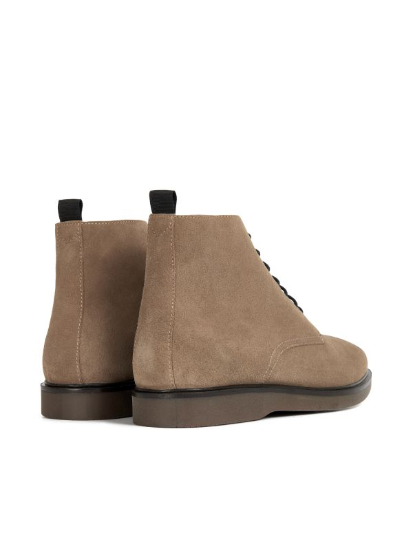 H by Hudson Troy Suede Taupe Boot Detail