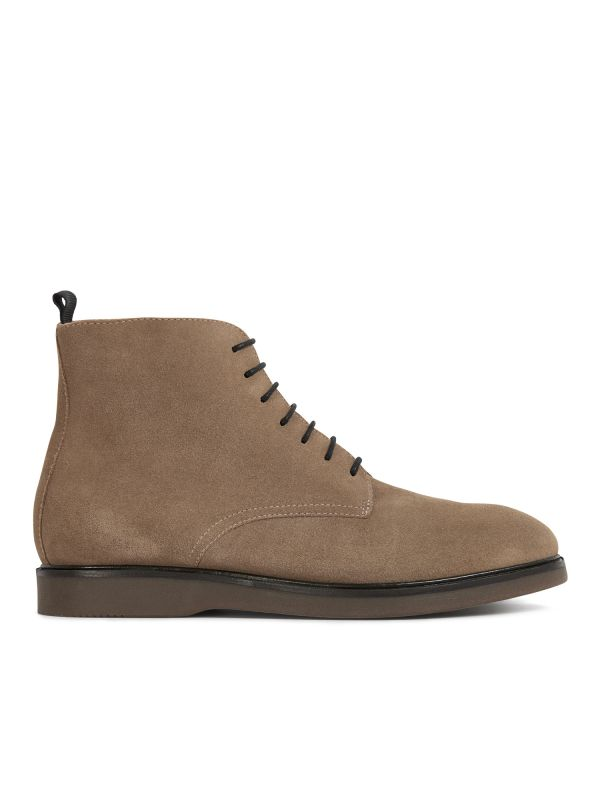 H by Hudson Troy Suede Taupe Boot Side
