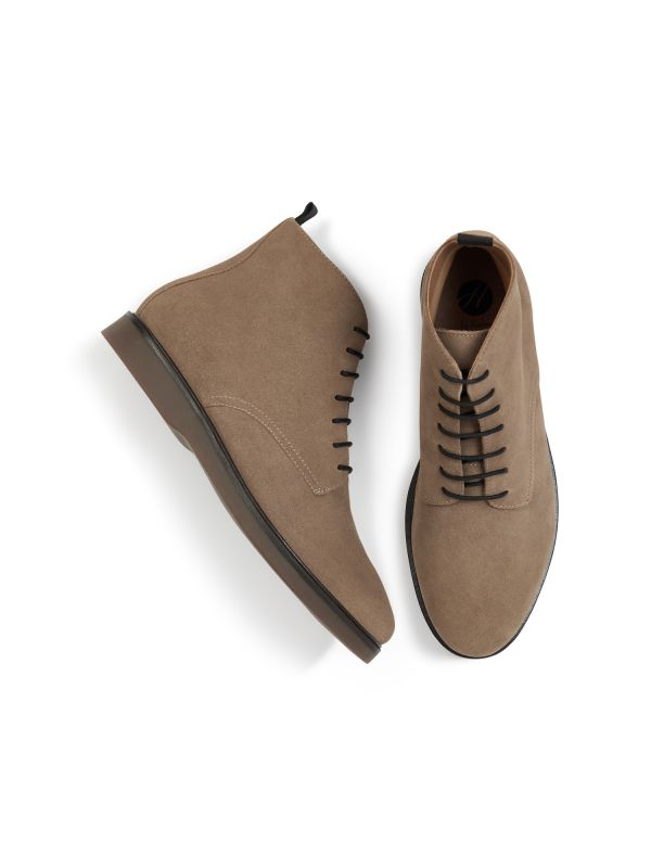 H by Hudson Troy Suede Taupe Boot Top