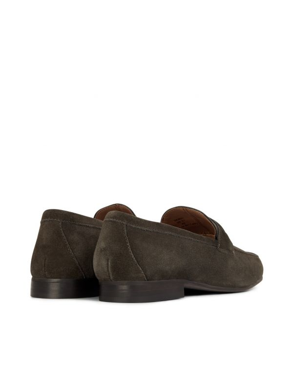 H by Hudson Hecker Suede Brown Loafer Detail