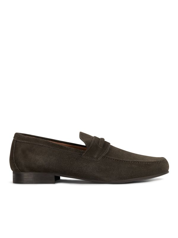 H by Hudson Hecker Suede Brown Loafer Sole