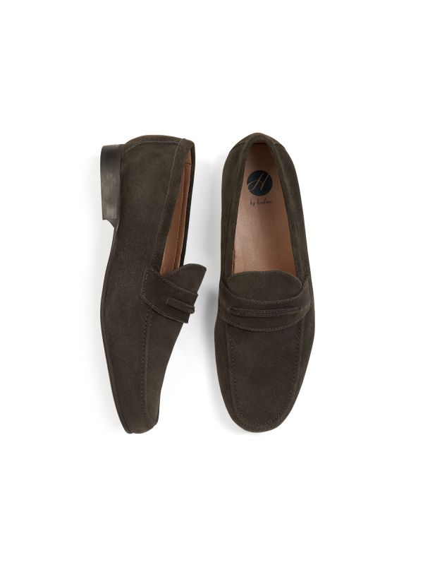 H by Hudson Hecker Suede Brown Loafer Top