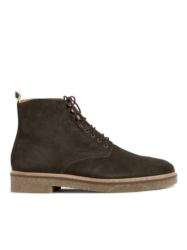 Hudson Mens Trumen Suede Brown Boot Side