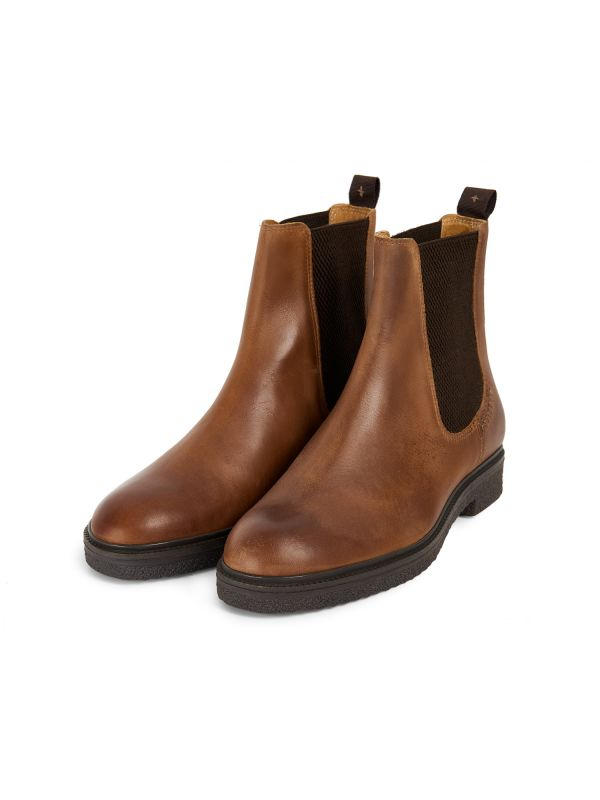 Mens Martell Tan Chelsea Boot Three Quarter
