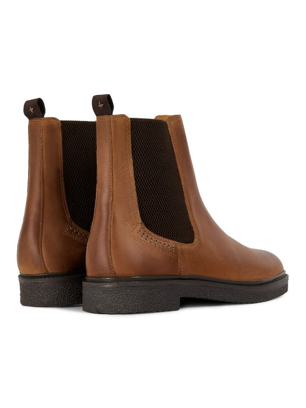 Mens Martell Tan Chelsea Boot Detail