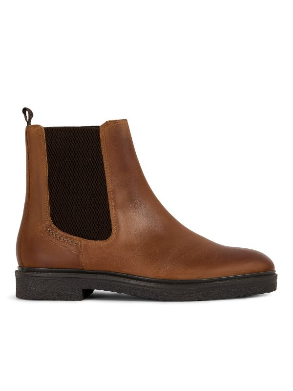 Mens Martell Tan Chelsea Boot Side