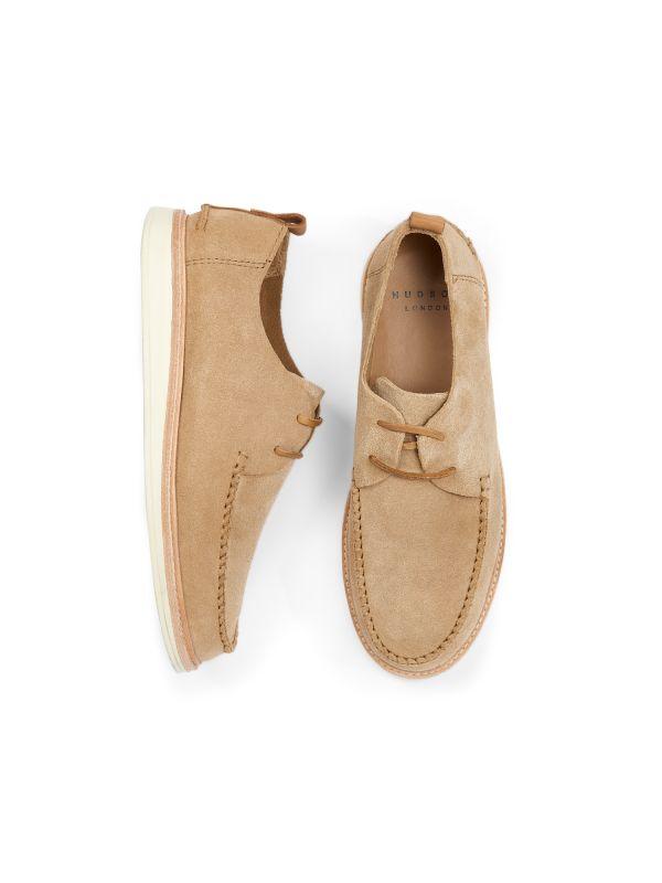 Hudson London Mens Toshan Suede Cappuccino Shoe Top
