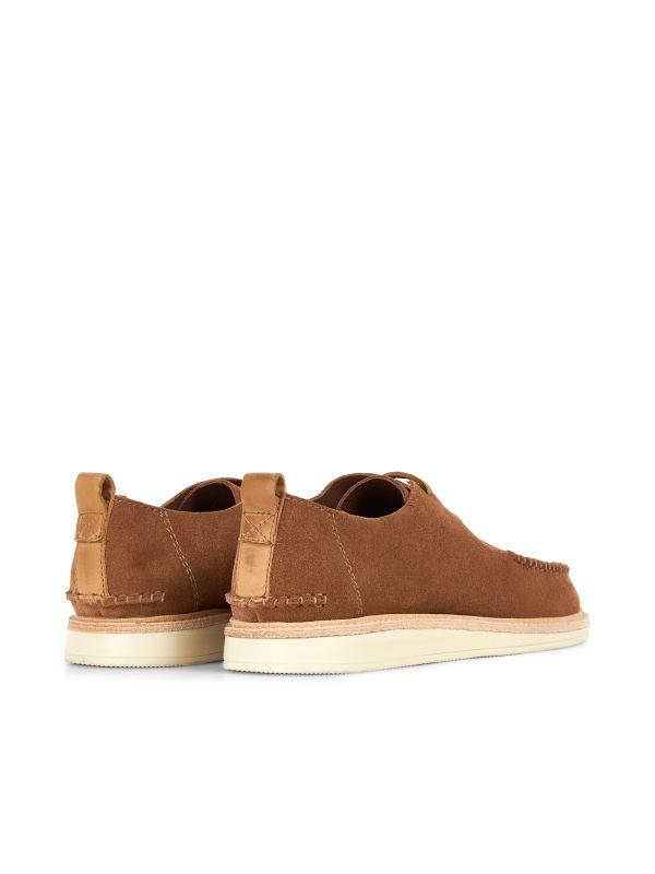 Hudson London Mens Toshan Suede Cognac Shoe Detail