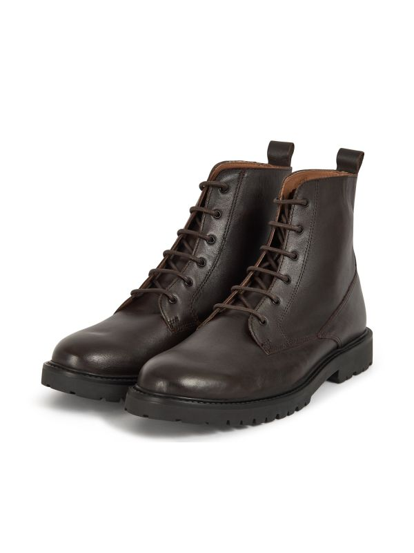 H by Hudson Mens Perry Leather Brown Boot Three Quarter