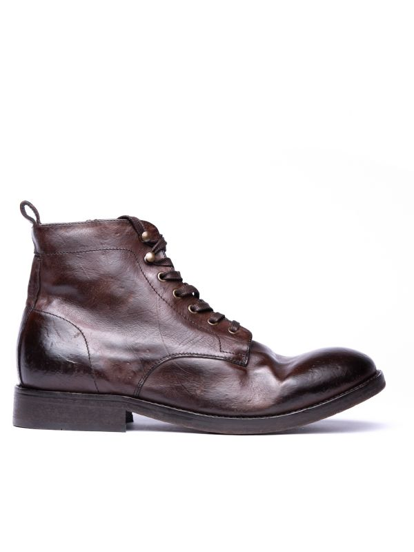 Lace Up Boot Rune Brown Vegetable Tanned