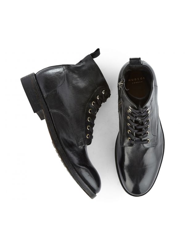 Lace Up Boot Rune Black Vegetable Tanned