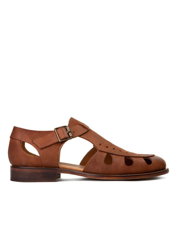 Hudson Womens Sherbert Tan Sandal Side