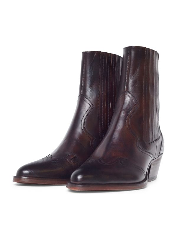 Womens Sienna Brown Chelsea Boot three quarter