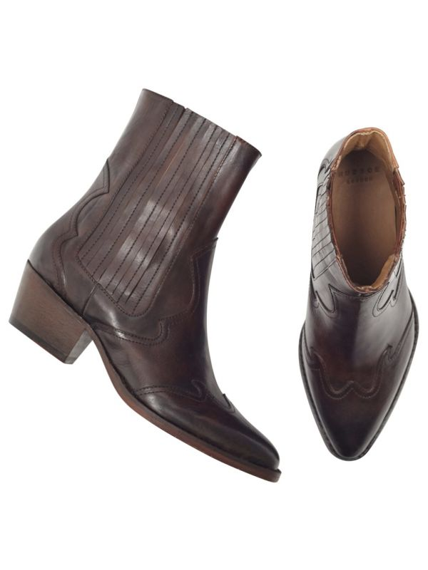 Womens Sienna Brown Chelsea Boot Top