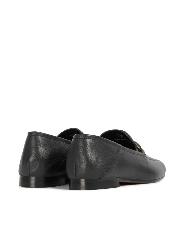 Hudson Womens Arianna Black Loafer Detail