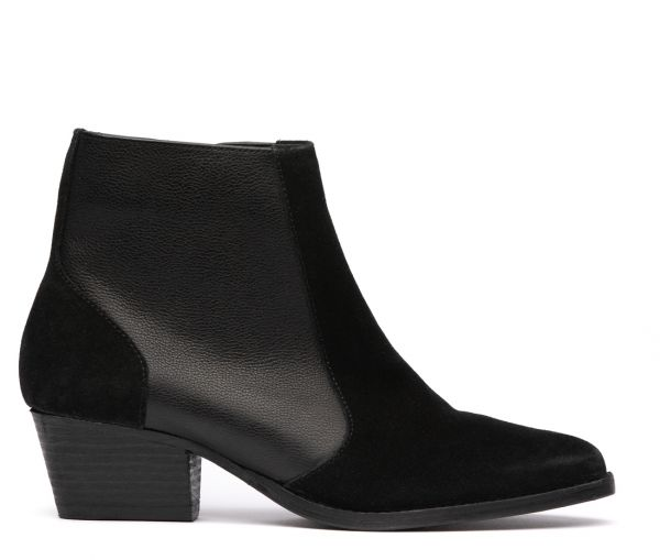 Hedemann Suede Black Boot