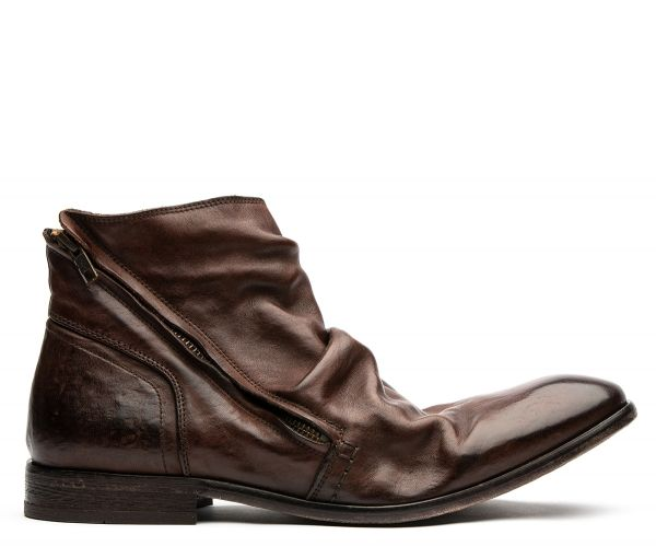 Hudson London Mens Noel Brown Zip Boot Side