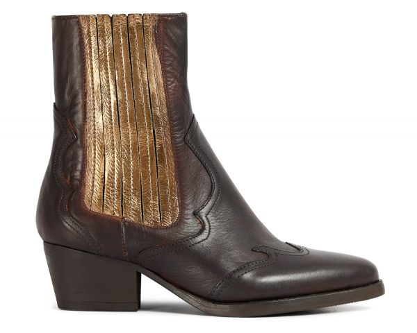 Sienna Bronze Chelsea Boot Side
