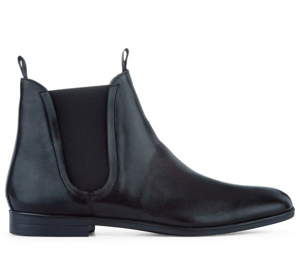 Leather Chelsea Boot Atherstone Black Side View