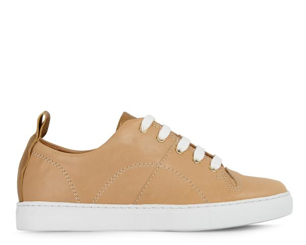 Womens Hudson London Sierra Beige Sneaker Side
