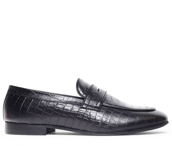 Calibro Croc Black Loafer