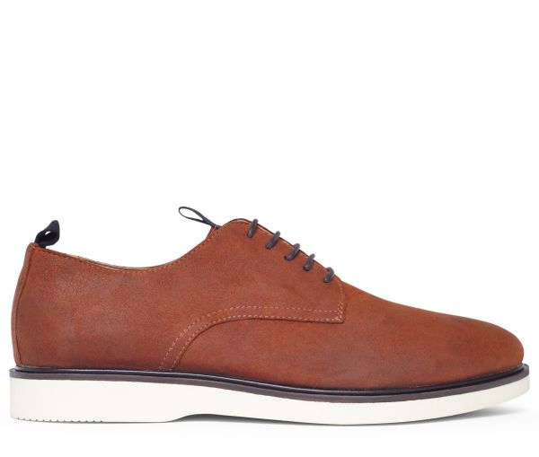 Calverston Oiled Suede Tan Derby Shoe